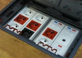 Люк в пол на 12 модулей (45х45мм) в комплекте с коробкой и суппортами