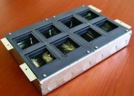 Коробка с суппортами для люка в пол BOX/8 на 8 модулей, для заливки в бетон, сталь