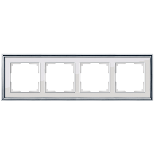 Рамка на 4 поста Werkel Palacio хром/белый