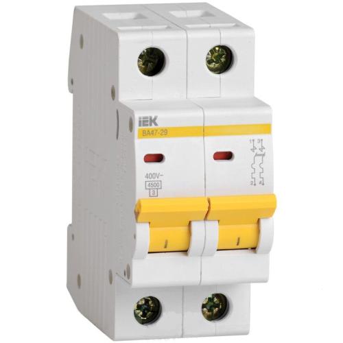 Автоматический выключатель IEK ВА47-29 2P 63А