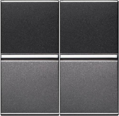 Переключатель 2кл проходной ABB Niessen Zenit Антрацит