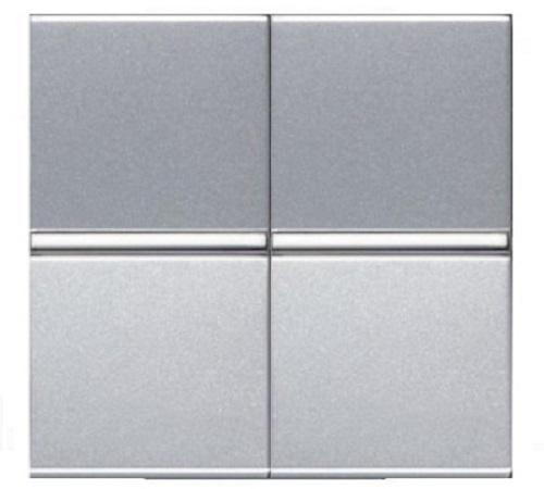 Переключатель 2кл проходной ABB Niessen Zenit Серебро