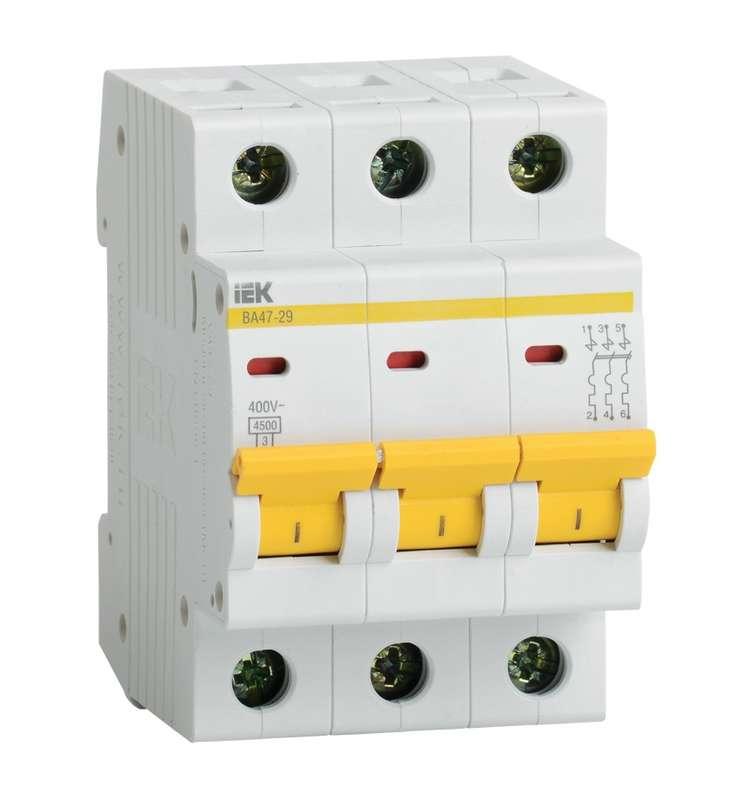 Автоматический выключатель IEK ВА47-29 3P 40А