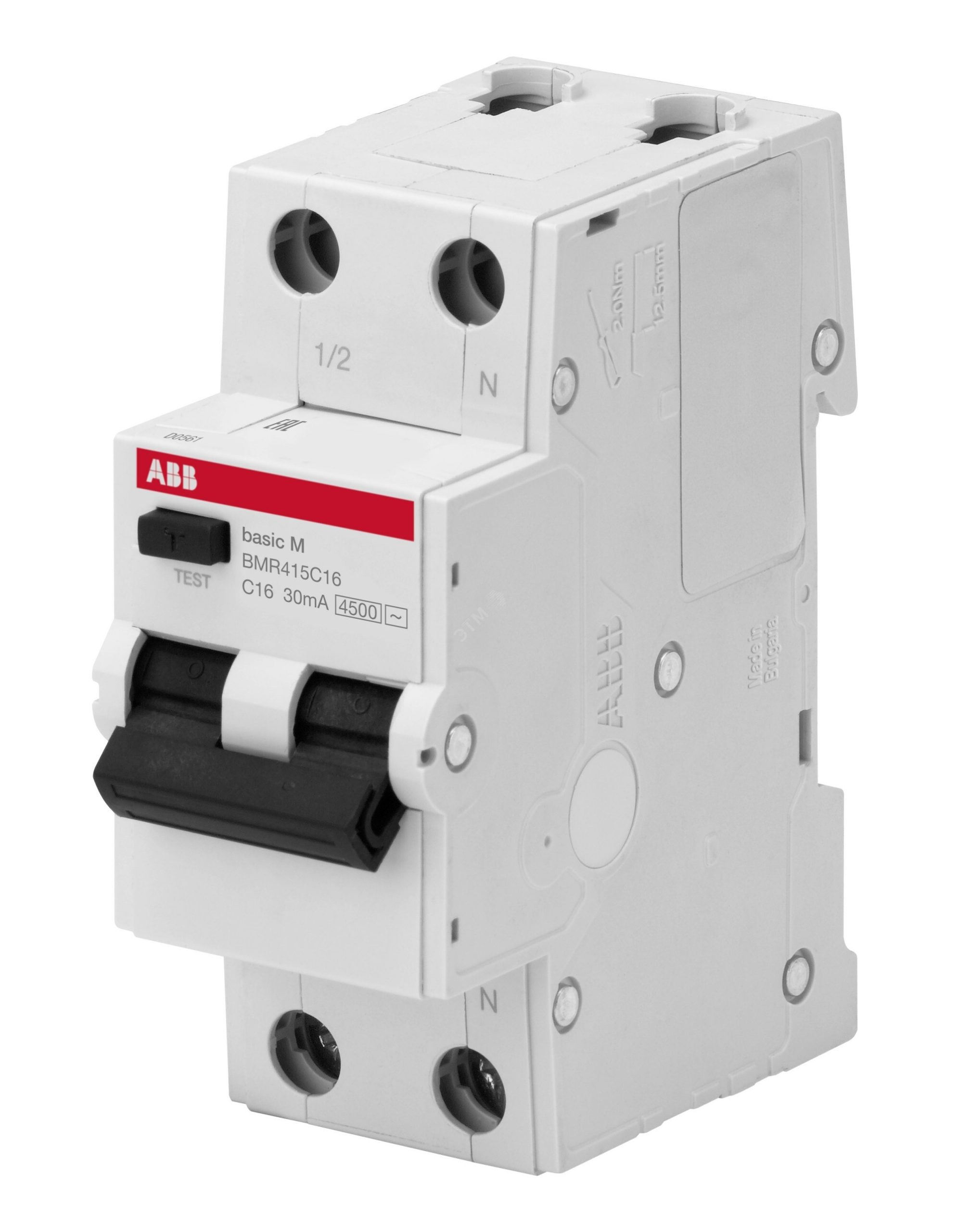 Дифавтомат 2P C6 30mA, 4,5kA — ABB Basic M (BMR415C06)