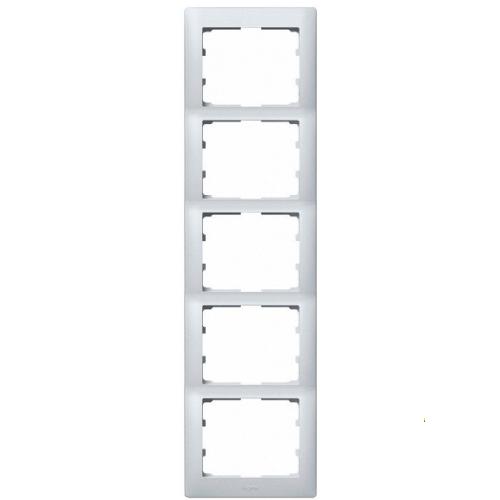 Рамка 5 постов вертикальная Legrand Galea Life — алюминий