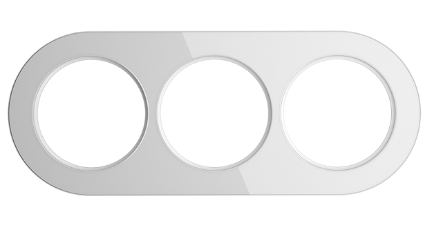 WL21-frame-03/ Рамка на 3 поста (Белый)