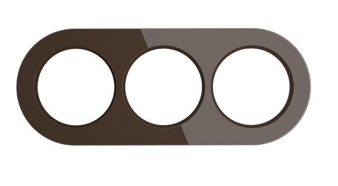 WL21-frame-03/ Рамка на 3 поста (Коричневый)