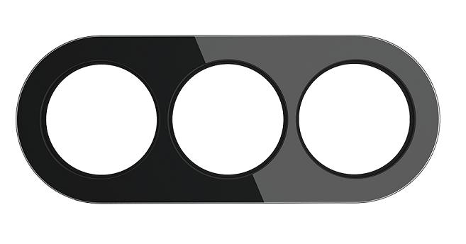 WL21-frame-03/ Рамка на 3 поста (Черный)