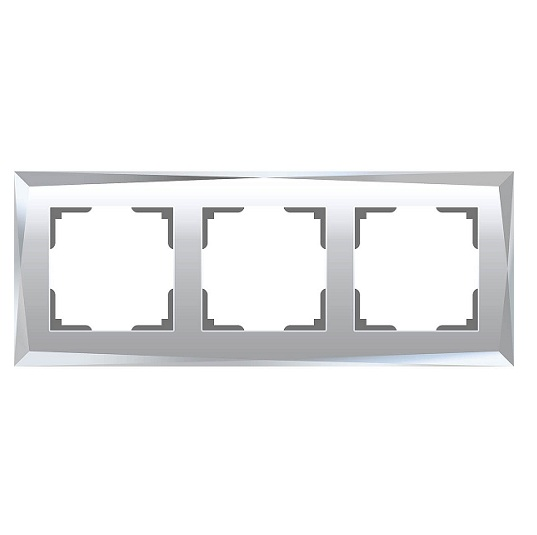 WL08-Frame-03/Рамка на 3 поста (зеркальный)