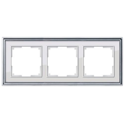 Рамка на 3 поста Werkel Palacio хром/белый