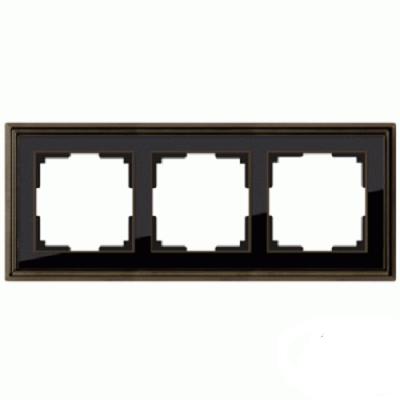 Рамка на 3 поста Werkel Palacio бронза/черный