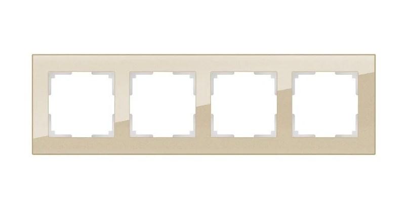 WL01-Frame-04 / Рамка на 4 поста (шампань,стекло)