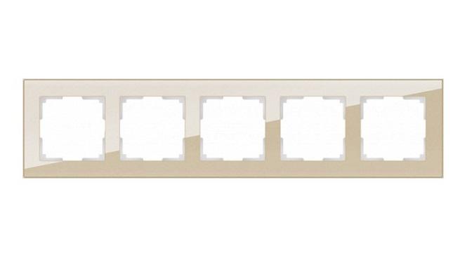 WL01-Frame-05 / Рамка на 5 постов (шампань,стекло)