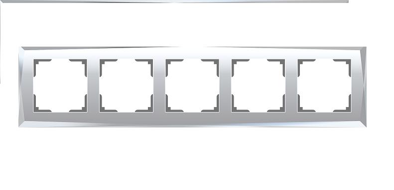 WL08-Frame-05/Рамка на 5 постов (зеркальный)