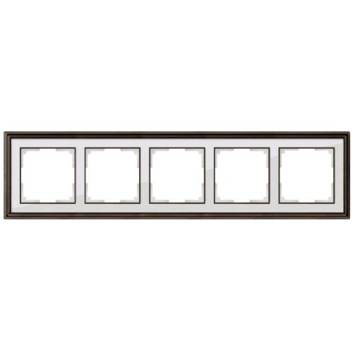 Рамка на 5 постов Werkel Palacio бронза/белый