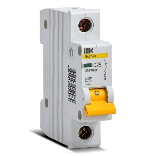 Автоматический выключатель IEK ВА47-29 1P 20А