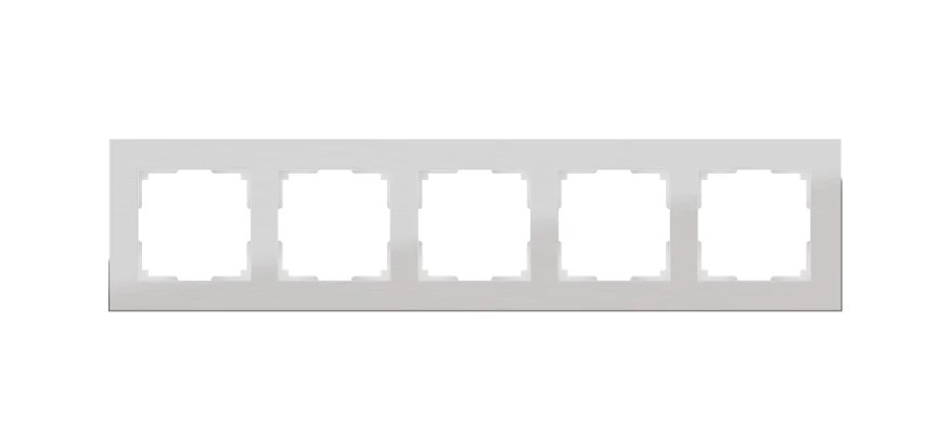 WL11-Frame-05 / Рамка на 5 постов (алюминий)