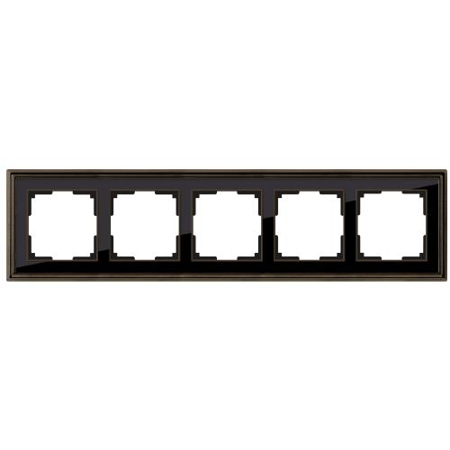 Рамка на 5 постов Werkel Palacio бронза/черный