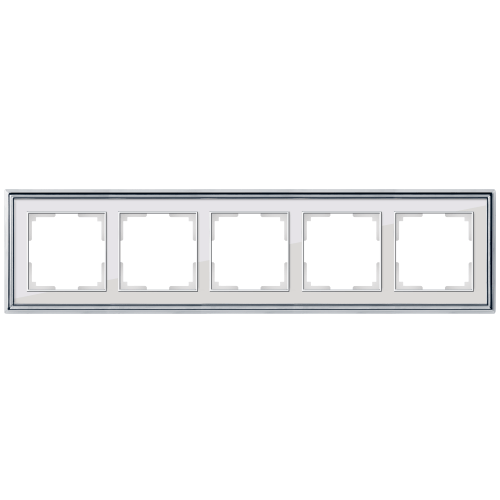 Рамка на 5 постов Werkel Palacio хром/белый