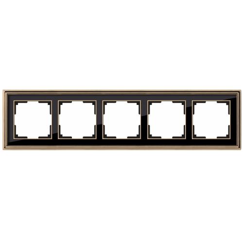 Рамка на 5 постов Werkel Palacio золото/черный