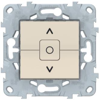 Выключатель для жалюзи, 2-клавишный с фиксацией, Беж, Schneider Electric Unica Studio New