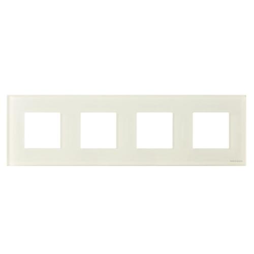 Рамка 4 поста (8 модулей) ABB Zenit Стекло белое