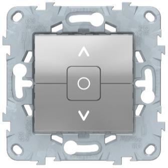 Выключатель для жалюзи 2-клавишный, с фиксацией, Алюминий, Schneider Electric Unica Studio New