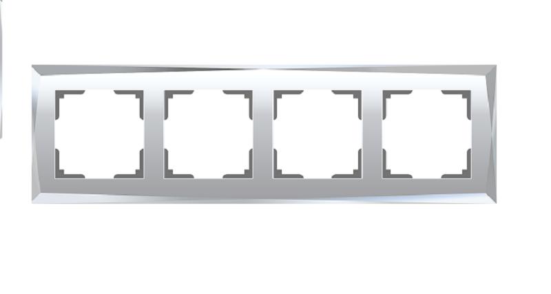 WL08-Frame-04/Рамка на 4 поста (зеркальный)