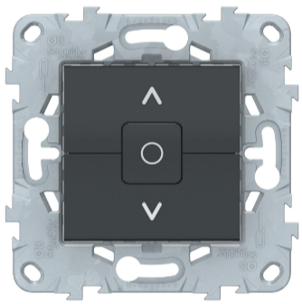 Выключатель для жалюзи, 2-клавишный, с фиксацией, Антрацит, Schneider Electric Unica Studio New