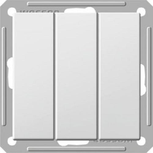 Выключатель Wessen 59 3-клавишный белый