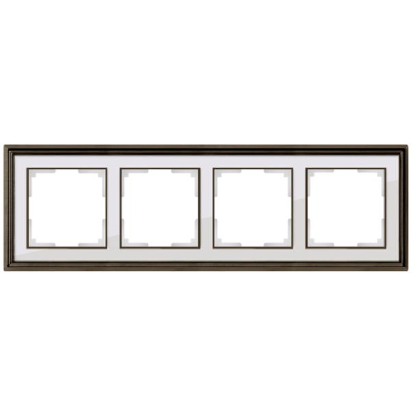 Рамка на 4 поста Werkel Palacio бронза/белый