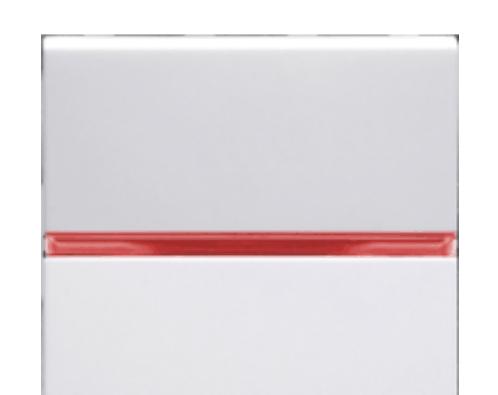 Переключатель 1кл промежуточный с красной подсветкой ABB Niessen Zenit Белый