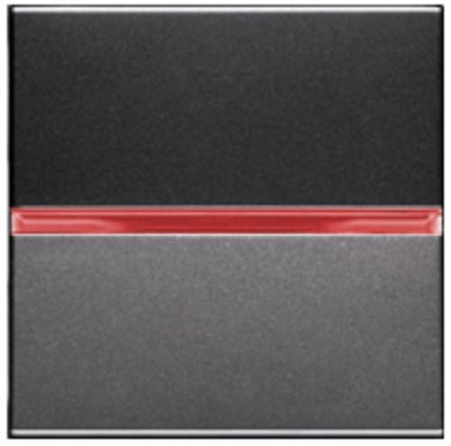 Переключатель 1кл промежуточный с подсветкой ABB Niessen Zenit Антрацит