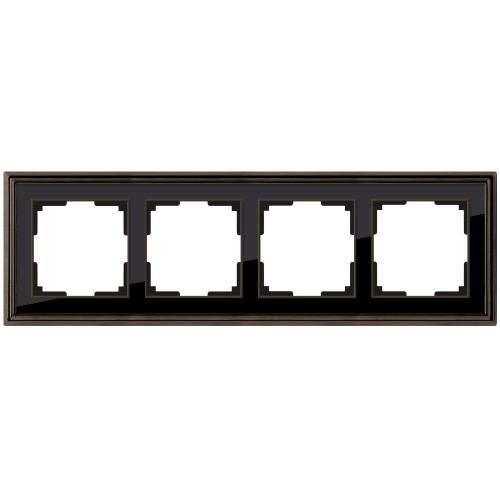 Рамка на 4 поста Werkel Palacio бронза/черный