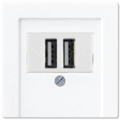 Розетка USB двойная Jung AS 500 2×700мA Белый