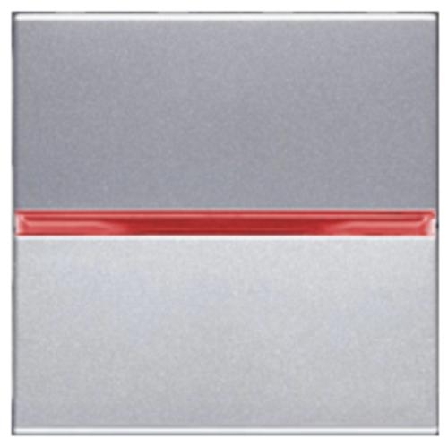 Переключатель 1кл промежуточный с красной подсветкой ABB Niessen Zenit Серебро