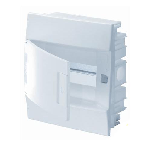 Бокс в нишу ABB Mistral41 8М белая дверь с клеммным блоком