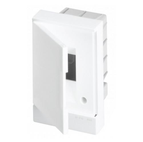 ABB Basic E Бокс в нишу 2М белая непрозрачная дверь (без клемм), 2мод. IP40