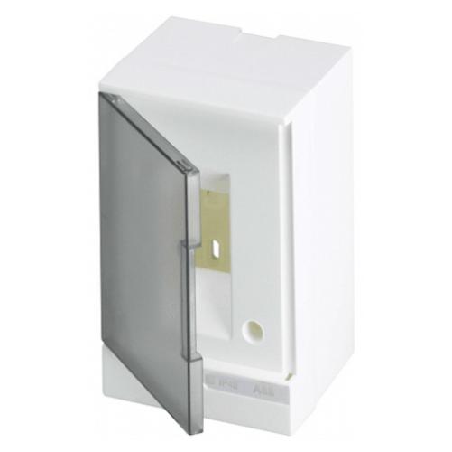 ABB Basic E Бокс настенный 2М серая прозрачная дверь (без клемм), 2 мод. IP40