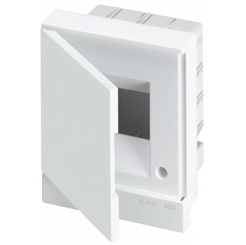 ABB Basic E Бокс в нишу 4М белая непрозрачная дверь (c клеммами), 4 мод. IP40