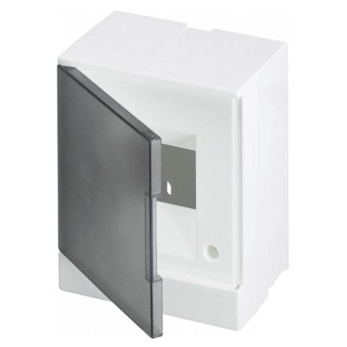 ABB Basic E Бокс настенный 4М серая прозрачная дверь (с клеммами), 4 мод. IP40