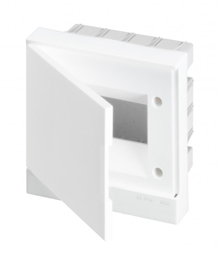 ABB Basic E Бокс в нишу 6М белая непрозрачная дверь (c клеммами), 6 мод. IP40