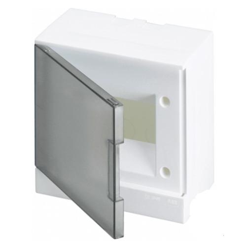 ABB Basic E Бокс настенный 8М серая прозрачная дверь (с клеммами), 8 мод. IP40