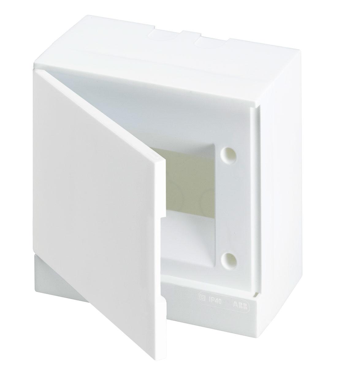 ABB Basic E Бокс настенный 6М белая непрозрачная дверь (с клеммами), 6 мод. IP40