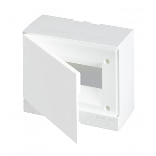 ABB Basic E Бокс настенный 8М белая непрозрачная дверь (с клеммами), 8 мод. IP40