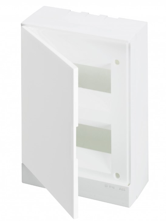 ABB Basic E Бокс настенный 16М белая непрозрачная дверь (с клеммами), 16 мод. IP40