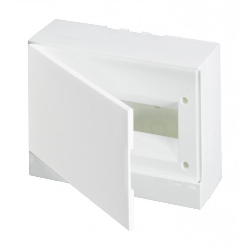 ABB Basic E Бокс настенный 12М белая непрозрачная дверь (с клеммами), 12 мод. IP40