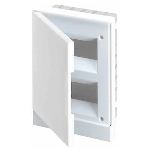 ABB Basic E Бокс в нишу 24М белая непрозрачная дверь (c клеммами), 24 мод. IP40