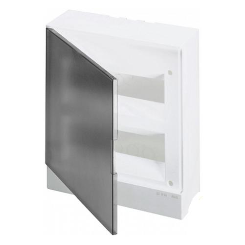 ABB Basic E Бокс в нишу 24М серая прозрачная дверь (c клеммами), 24 мод. IP40