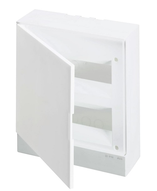 ABB Basic E Бокс настенный 24М белая непрозрачная дверь (с клеммами), 24 мод. IP40